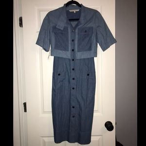 Rachael Roy denim one piece dress